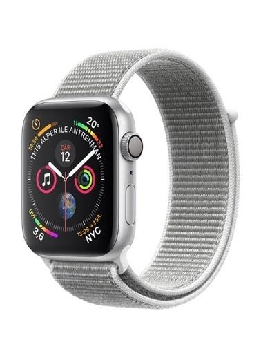 Apple Seri 4 44mm GPS Gümüş Rengi Alüminyum Kasa ve Deniz Kabuğu Spor Loop - (MU6C2TU/A) Renkli